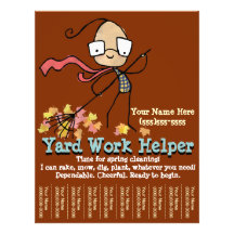lawn and garden flyers zazzle