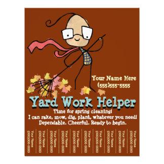 Yard Work. Garden Helper. Advertising flyer