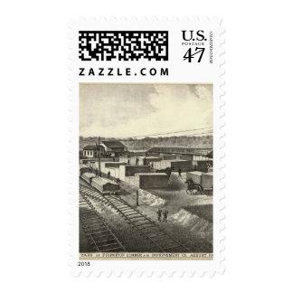 Yarda de la rama, madera de construcción y mejora timbres postales
