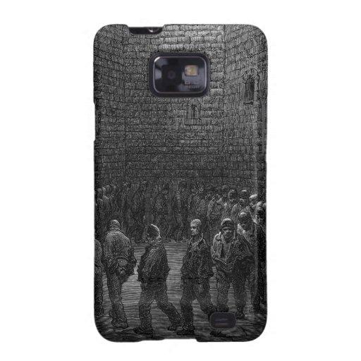 Yarda del ejercicio de la prisión de Newgate Samsung Galaxy SII Funda