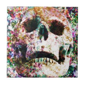 Yarda del sepulcro de la vida del cráneo de la azulejo cuadrado pequeño