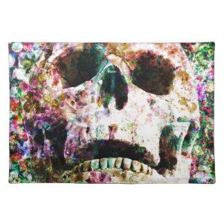 Yarda del sepulcro del jardín de flores del cráneo mantel individual