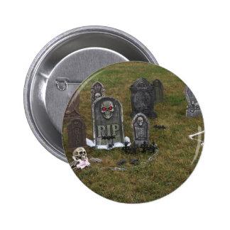 Yarda grave de Halloween con las piedras sepulcral Pin