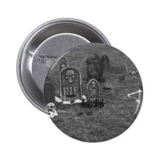 Yarda grave de Halloween con las piedras sepulcral Pins