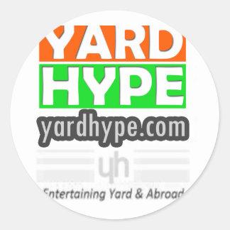 YardHypeClothing Classic Round Sticker