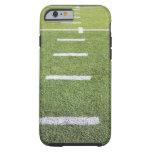 Yardlines en campo de fútbol funda de iPhone 6 tough