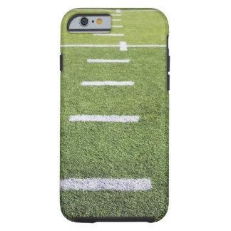Yardlines en campo de fútbol funda para iPhone 6 tough