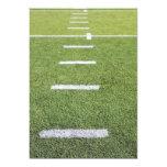 Yardlines on Football Field 5x7 Paper Invitation Card