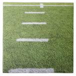 Yardlines on Football Field Large Square Tile