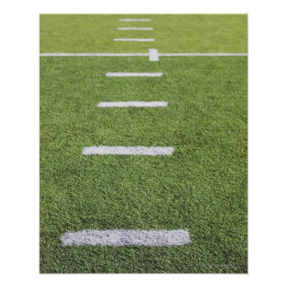 Yardlines on Football Field Poster