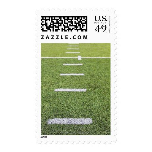 Yardlines on Football Field Stamp