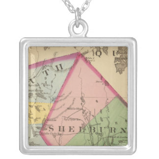 Yarmouth, Shelburne counties, NS Square Pendant Necklace