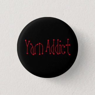 Yarn Addict Button
