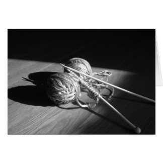 Yarn and Butterfly Shadow Greeting Cards