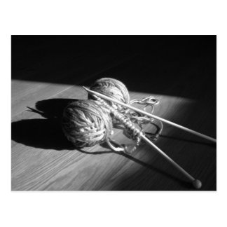 Yarn and Butterfly Shadow Postcard