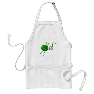 Yarn and Knitting Needles Adult Apron