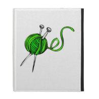 Yarn and Knitting Needles iPad Folio Cover