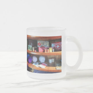 Yarn and Thread in General Store Frosted Glass Coffee Mug