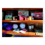 Yarn and Thread in General Store Greeting Card