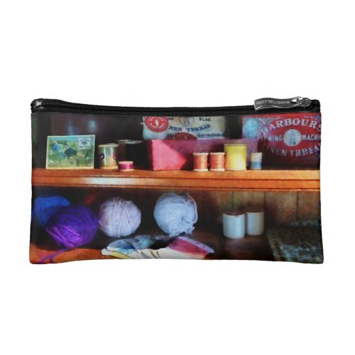 Yarn and Thread in General Store Makeup Bag