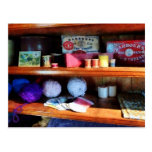 Yarn and Thread in General Store Postcard