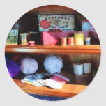 Yarn and Thread in General Store Classic Round Sticker