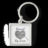 Yarn Ball Heart Illustration Keychain