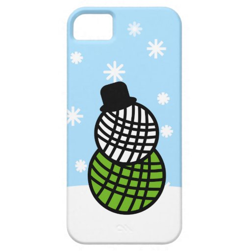 Yarn Ball Snowman Christmas Knit Crochet Case