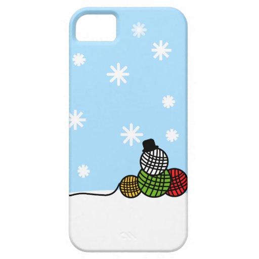 Yarn Ball Snowman Christmas Knit Crochet Case iPhone 5 Covers
