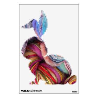 Yarn Bunny Wall Decal