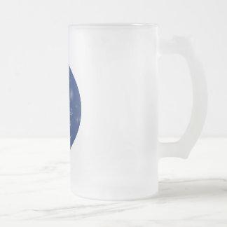 Yarn Christmas Frosted Glass Beer Mug
