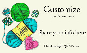 Knitting business cards templates zazzle yarncrochetknit business cards colourmoves