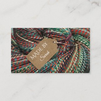 Yarn Dye Crochet and Knitting Wool Business Card