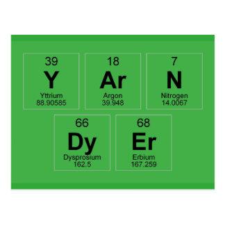 Yarn Dyer Periodic table Breaking Bad like Postcard