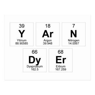 Yarn Dyer Periodic Table Postcard