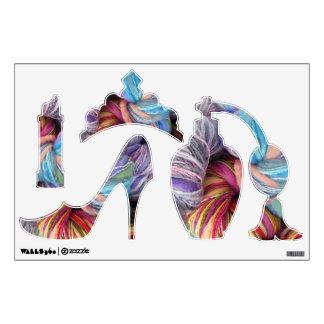 Yarn Fashion Items Wall Sticker
