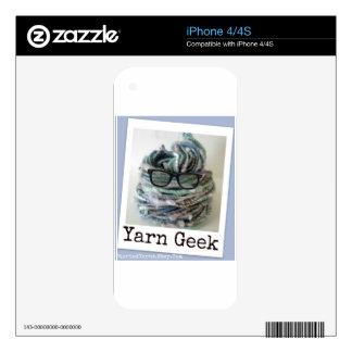 Yarn Geek iPhone 4 Decal