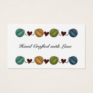 Yarn, Heart Border Business Card