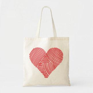 Yarn Heart Tote Canvas Bags