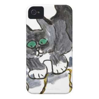 Yarn Hesitation by Nervous Kitten iPhone 4 Cover