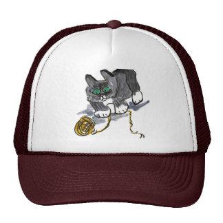 Yarn Hesitation by Nervous Kitten Trucker Hat
