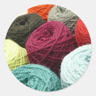 yarn.JPG Classic Round Sticker