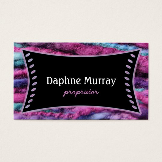 Yarn Knit Crochet Shop Business Card