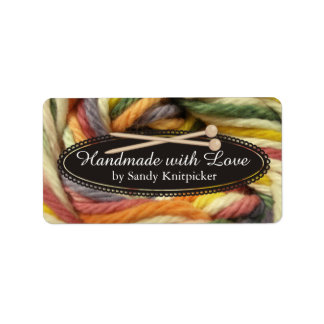 Yarn knitting needles crochet colorful yarn label