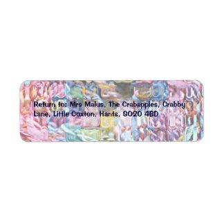 yarn custom return address labels