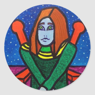Yarn Lady Classic Round Sticker