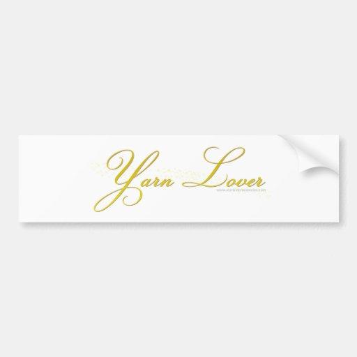 Yarn Lover Car Bumper Sticker