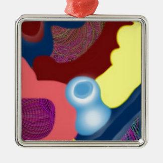 Yarn Metal Ornament