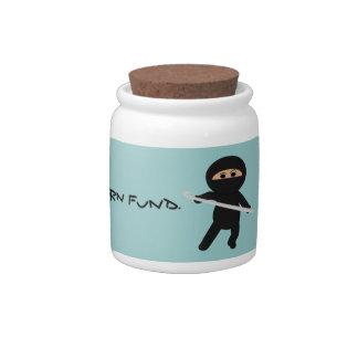 Yarn Money Protected by Crochet Ninja Jar Candy Jars