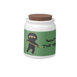 Yarn Money Protected by Knitting Ninjas Jar Candy Jar